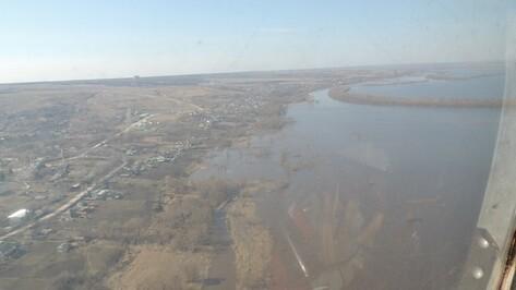 Паводковую обстановку воронежские спасатели контролируют с вертолетов
