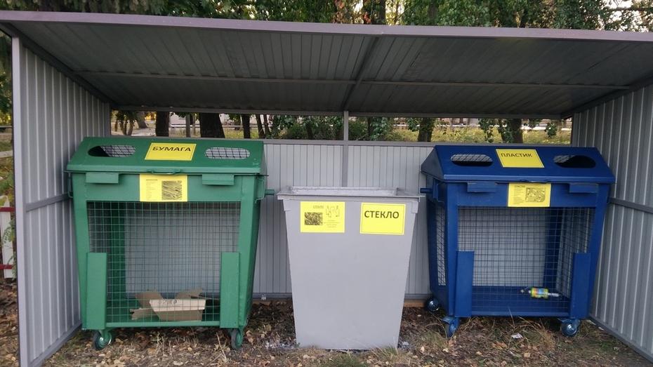 Разноцветные контейнеры для раздельного сбора мусора появились в Таловском районе