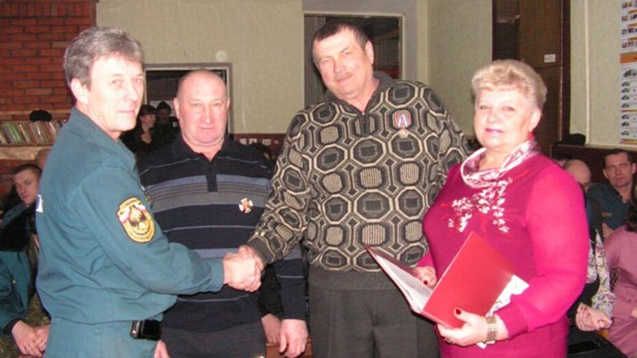 Бутурлиновские пожарные получили награды МЧС России