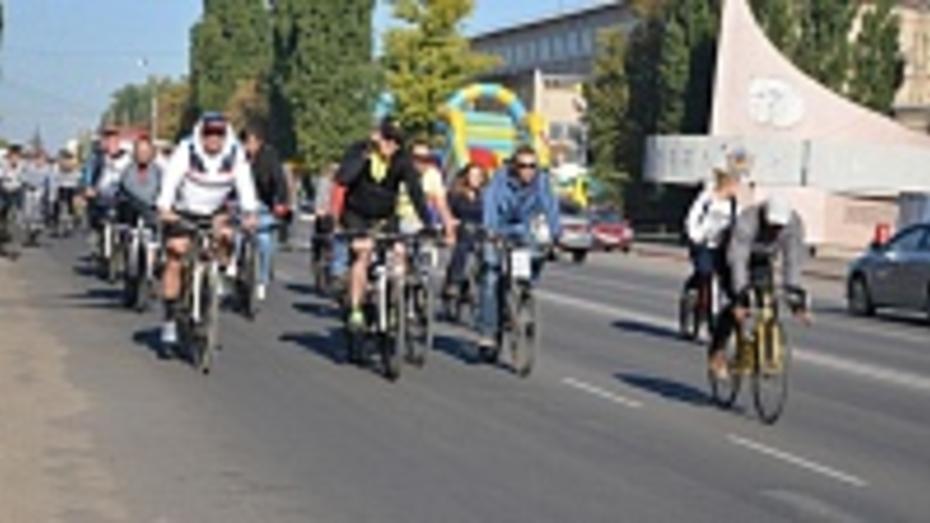 В Россоши прошел первый велопробег