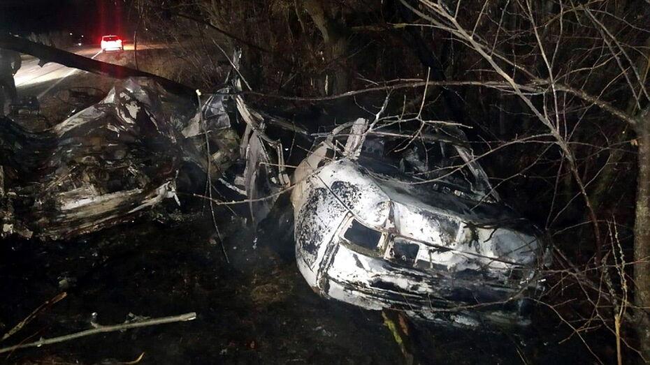 Липчане сгорели в машине после ДТП в Воронежской области