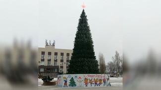 Искусственную новогоднюю ель впервые установили в Верхнем Мамоне