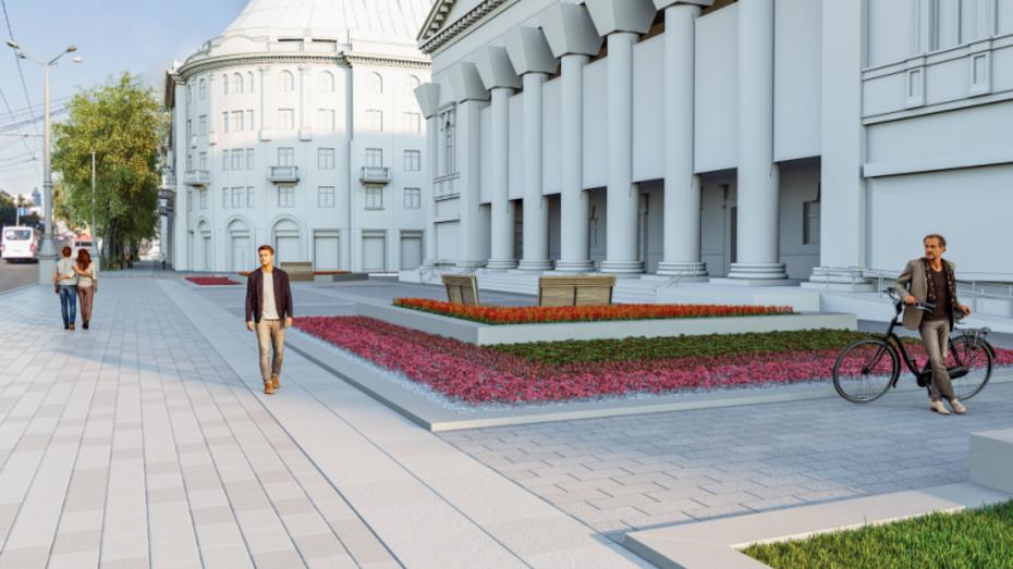 Сквер имени Пушкина в Воронеже благоустроят до сентября-2019