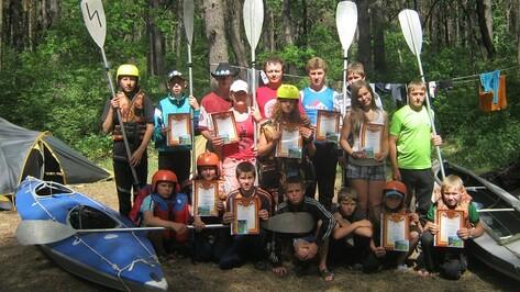 Эртильские школьники стали победителями областных соревнований по водному туризму