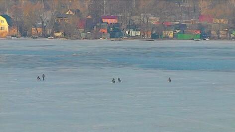 Спасатели предостерегли воронежских рыбаков от выхода на лед водохранилища