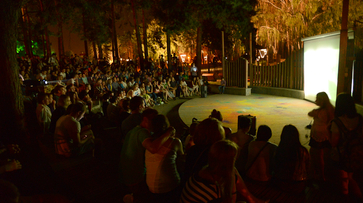 На фестиваль уличного кино в Воронеже пришли 300 горожан