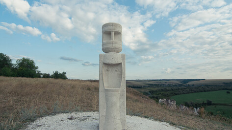 Для фестиваля «Чернозем» художники создали в Дивногорье арт-проекты из мела, металла и бетона