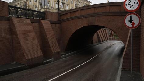 В Воронеже 10 апреля перекроют проезд под Каменным мостом
