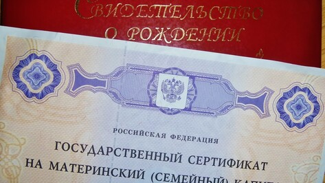 У жительницы Воронежа отобрали сертификат на материнский капитал