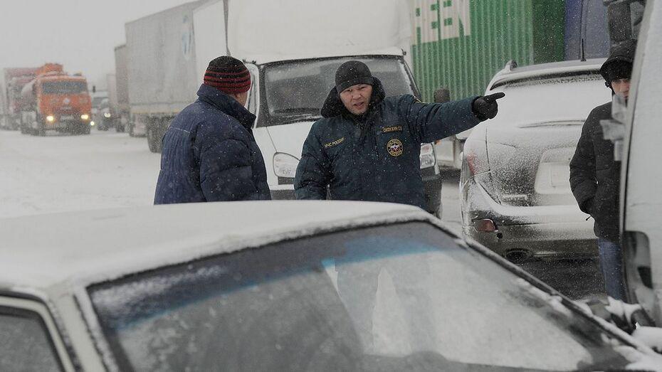 МЧС ввело «горячую линию» из-за снегопада в Воронежской области