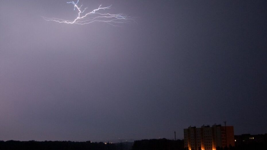 В Воронежской области рыбак умер после удара молнии