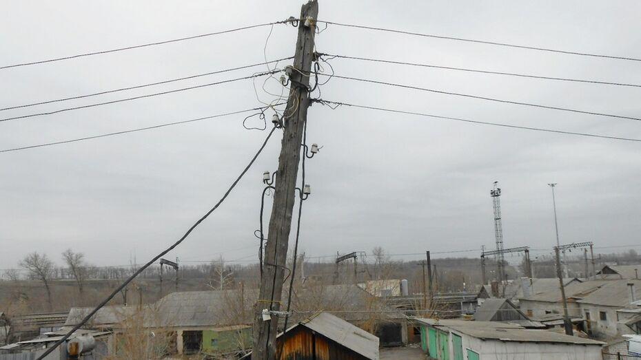 В Таловском районе сильный ветер в 13 местах оборвал электролинии