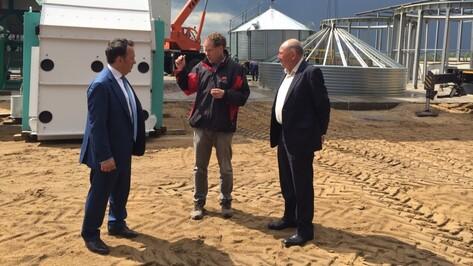 Председатель Центрально-Черноземного банка Владимир Салмин посетил холдинг «ЭкоНива»