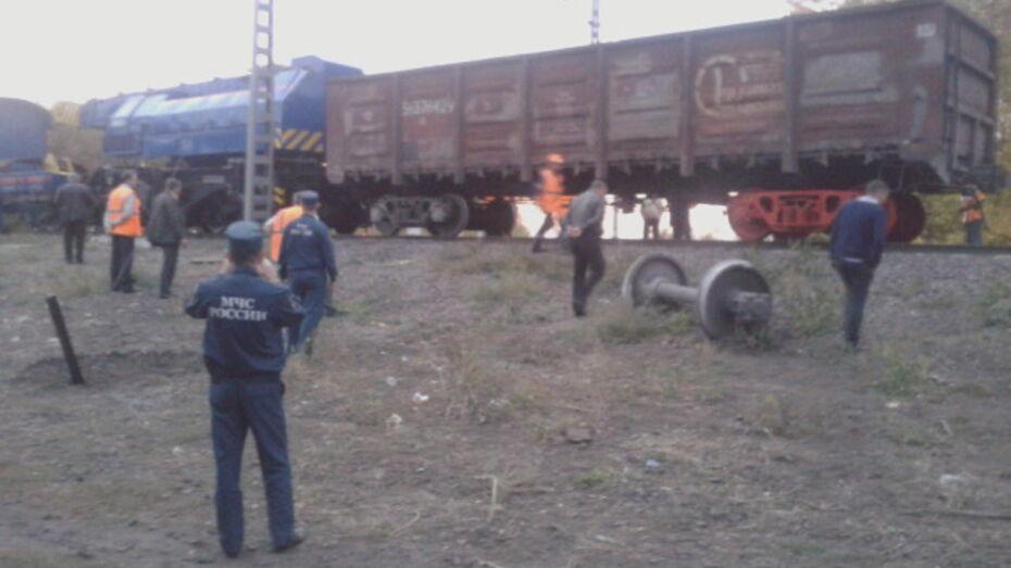В Воронежской области сошли с рельсов 2 вагона