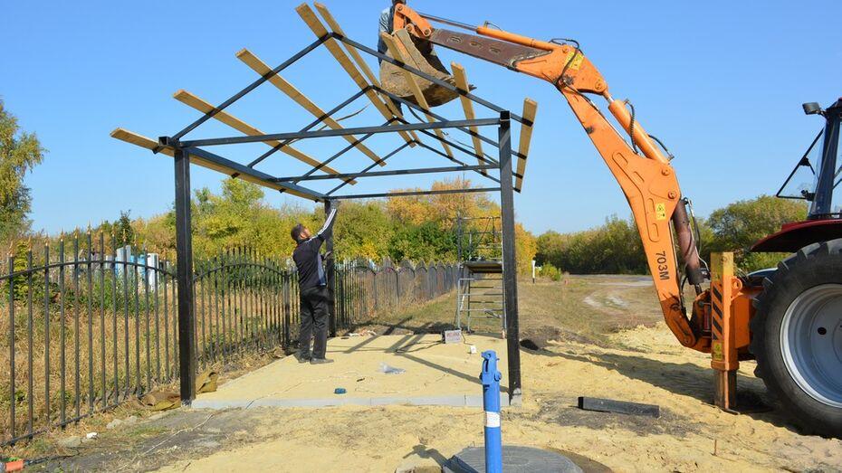 В нижнедевицком селе Першино к кладбищу подвели водопровод