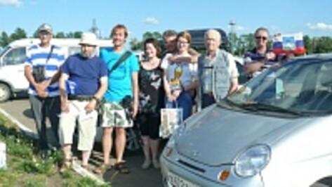 В Рамони сделали остановку участники автопробега Орел – Крым
