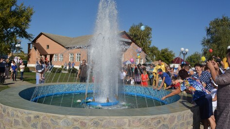 В богучарской Данцевке состоялось торжественное открытие сквера и фонтана