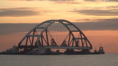 Воронежскую автодорожную арку для Крымского моста вывели в фарватер