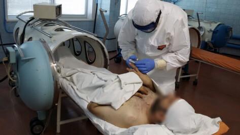 В воронежской больнице «Электроника» провели более 400 баросеансов для COVID-пациентов