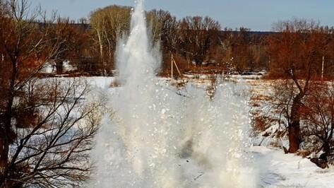 Спасатели предупредили воронежцев о взрывах льда у моста в Шилово