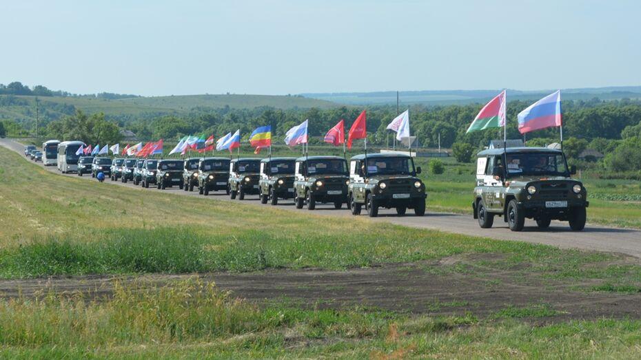 Всероссийский автопробег прошел через Нижнедевицкий район