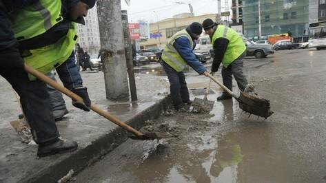 Воронежские коммунальщики запаслись песко-соляной смесью на 90%