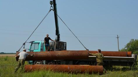 В нижнедевицком селе начали строить новый водопровод
