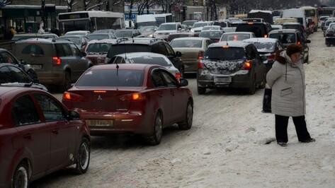 Впервые за зиму 2016/17 пробки в Воронеже достигли 10 баллов