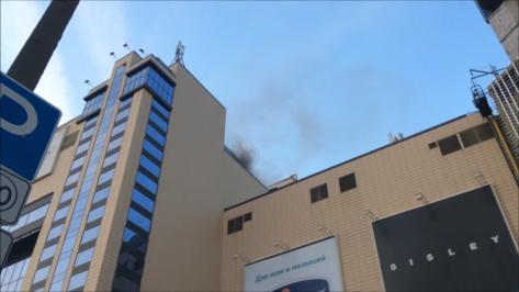 Пожар в воронежском ТЦ «Галерея Чижова» попал на видео