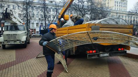 В Кольцовском сквере Воронежа включат зимний фонтан