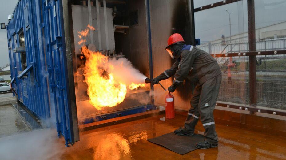 На Нововоронежскую АЭС поставили симулятор для отработки навыков пожаротушения