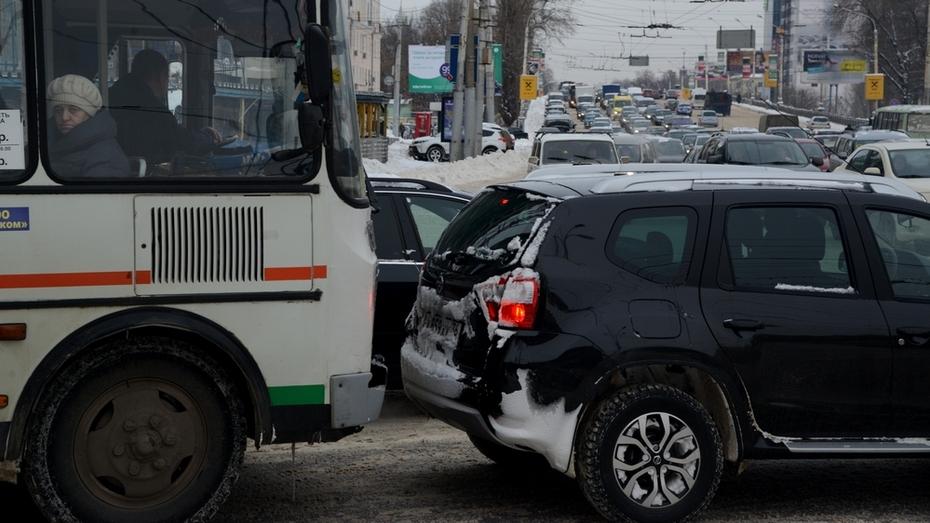 Воронежские перевозчики: в снегопад транспорт вышел на маршруты в штатном режиме