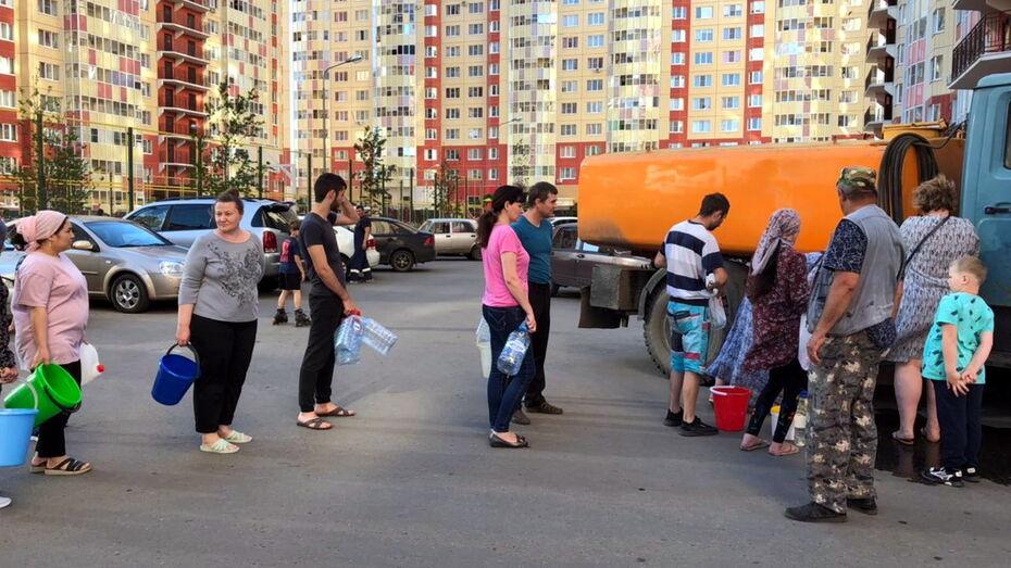 Отключение воды из-за аварии зацепило микрорайон под Воронежем