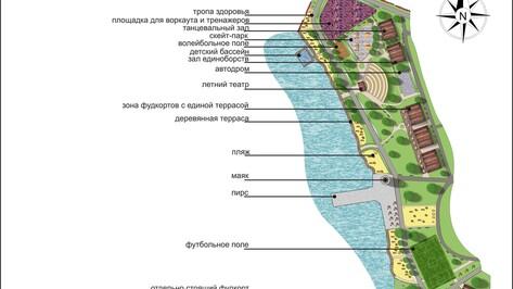 Детский бассейн и морской маяк сделают в прибрежной зоне воронежского парка «Дельфин»