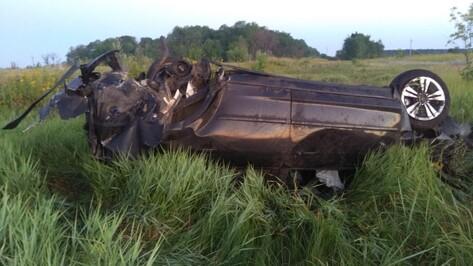 В Верхнехавском районе при опрокидывании иномарки в кювет погибла 23-летняя пассажирка