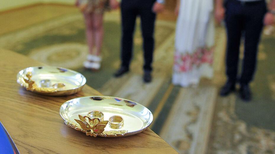 Жители Воронежской области стали реже вступать в брак и чаще разводиться