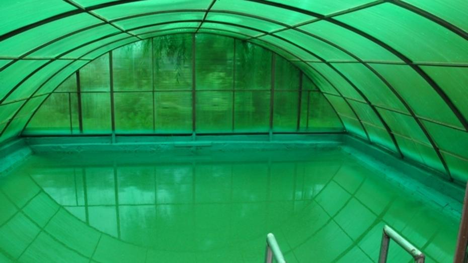 Эртилец построил бассейн в собственном дворе