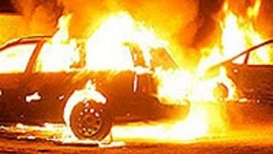 В Воронеже на улице Лебедева горели две иномарки