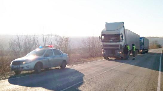 Кантемировские полицейские помогли застрявшему в мороз на трассе водителю фуры