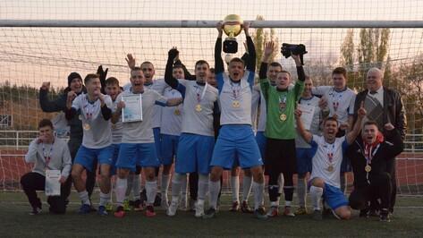 Борисоглебские футболисты впервые выиграли Кубок области