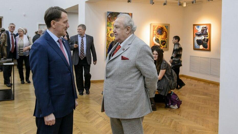 Алексей Гордеев наградил Зураба Церетели знаком «За заслуги перед Воронежской областью»