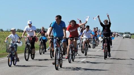 В Кантемировке прошел первый велопробег