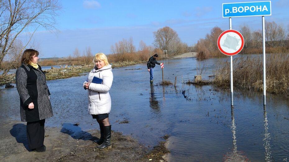 В Грибановском районе паводок пошел на спад