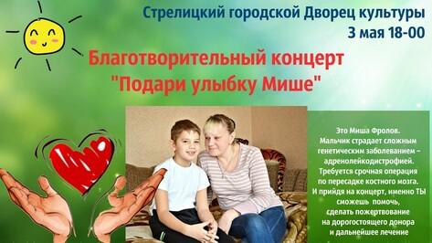 В Семилукском районе пройдут концерты в поддержку нуждающегося в операции мальчика