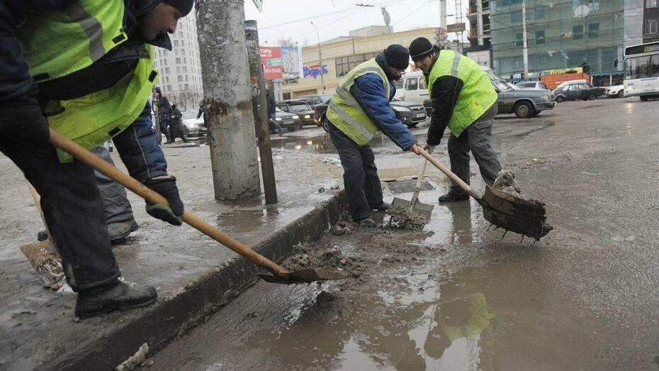 Мэр Воронежа пригрозил коммунальщикам «кадровыми решениями» из-за плохой уборки улиц