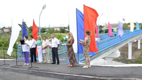 В Калаче появился новый пешеходный мост через реку Подгорная