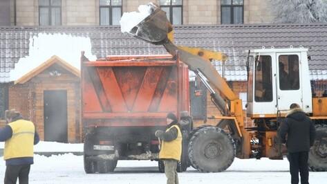 Коммунальщики за ночь вывезли с улиц Воронежа более 600 самосвалов снега