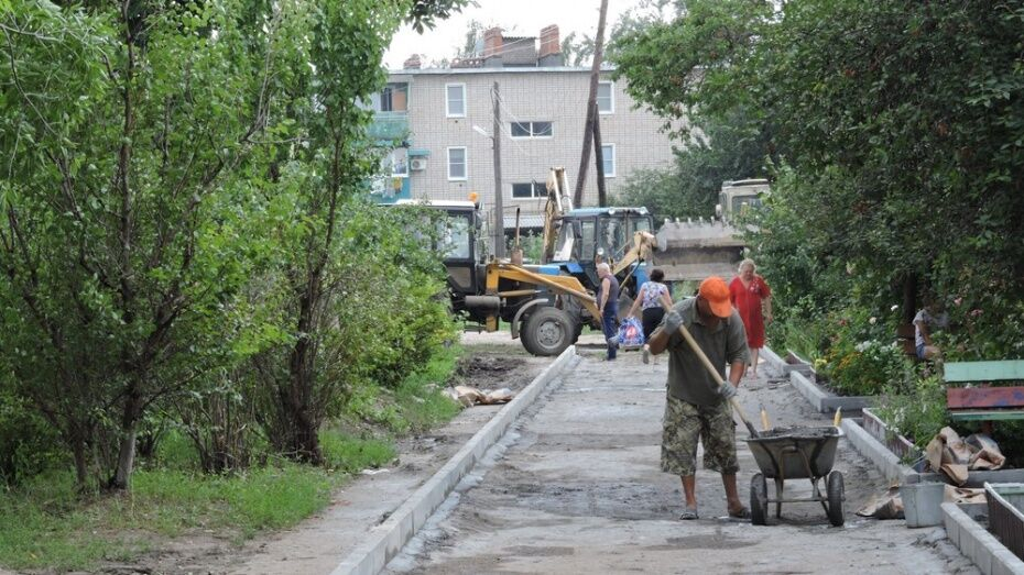 Воронежские дворы повторно отремонтируют в рамках федерального проекта в 2018 году