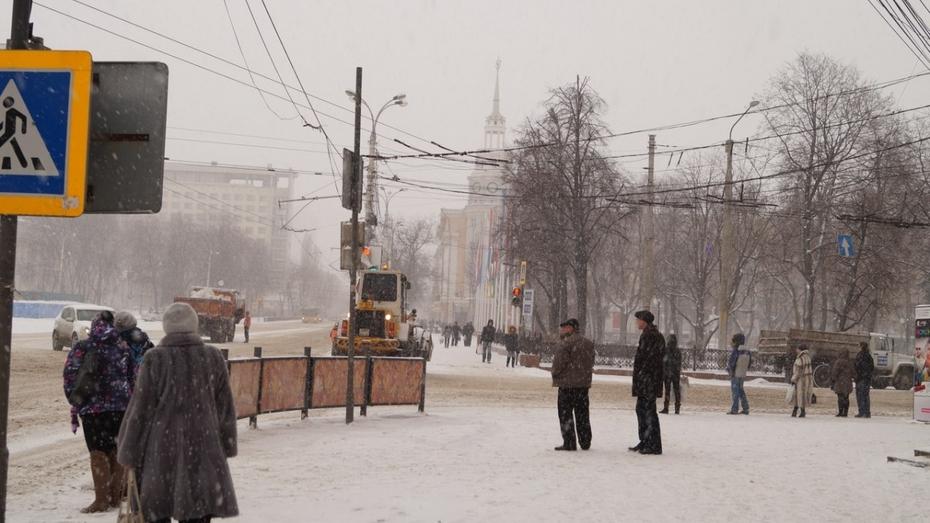 На воронежской площади Ленина власти временно запретили остановку и парковку