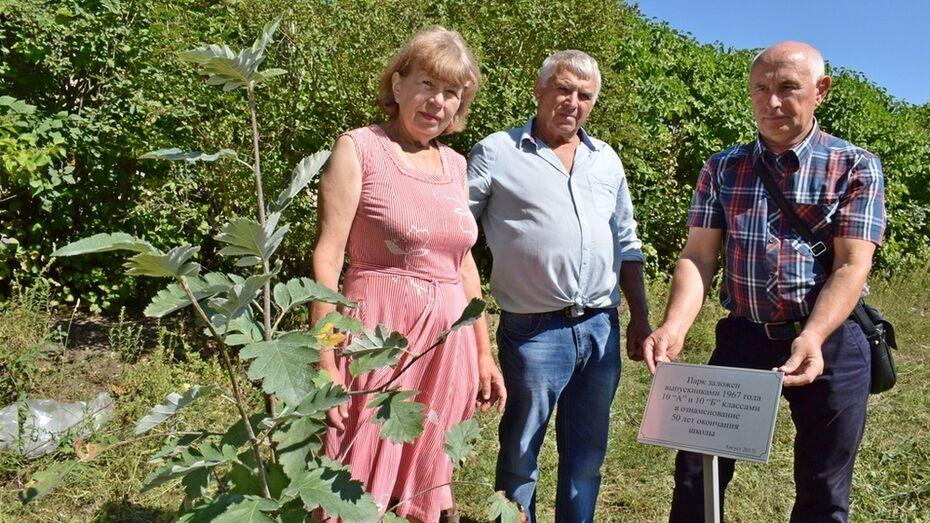 В Грибановском районе заложили аллею выпускников